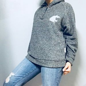 WOOLLY THREADS • WSU Cougars Marled Hoodie Small